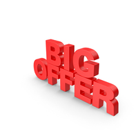 Big Offer 3D Text PNG & PSD Images