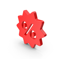 Sale Discount Red Web Icon PNG & PSD Images