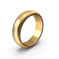 Golden Ring With White Stripe PNG & PSD Images