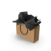 Craft Shopping Bag with Black Gift Paper PNG & PSD Images