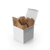 Square Packaging Box with Craft Paper PNG & PSD Images