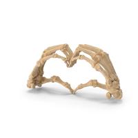 Skeletal Hand Heart Sign PNG & PSD Images