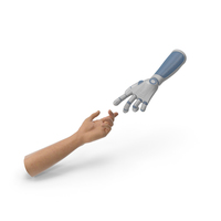 Reaching Hands Human Technology PNG & PSD Images