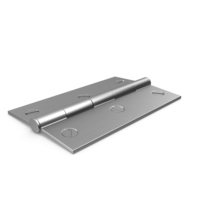 Steel Hinge With Screw Head PNG & PSD Images