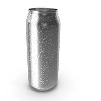 Tall Can With Water Droplets PNG & PSD Images