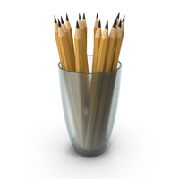 Glass With Pencils PNG & PSD Images
