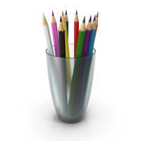 Glass With Colored Pencils PNG & PSD Images