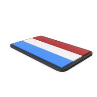Flag of Luxembourg PVC Patch PNG & PSD Images