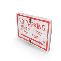 No Parking Road Sign Rusted PNG & PSD Images