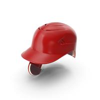 Baseball Helmet C Flap Red PNG & PSD Images