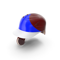 Baseball Helmet Ear Flap Red Blue Triangle PNG & PSD Images