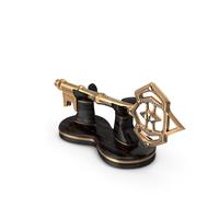 Fancy Golden Key Holder PNG & PSD Images