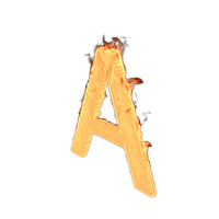 Fire Letter A PNG & PSD Images