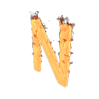 Fire Letter N PNG & PSD Images
