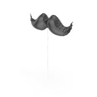 Mustache Shape Foil Balloon PNG & PSD Images