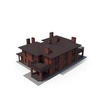 Villa Contemporary Brick House PNG & PSD Images