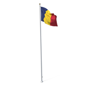 Flag On Pole Chad PNG & PSD Images