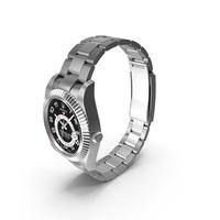 Rolex Sky Dweller White Gold Black Dial PNG & PSD Images