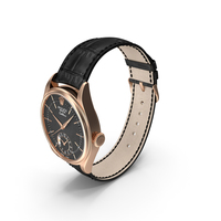 Rolex Cellini Dual Time Black Dial PNG & PSD Images