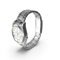 Rolex Sky Dweller White Gold Ivory Dial PNG & PSD Images