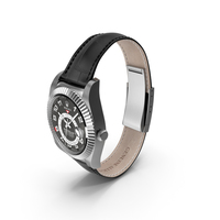 Rolex Sky-Dweller White Gold Leather Strap PNG & PSD Images