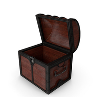 Small Wooden Chest Open PNG & PSD Images