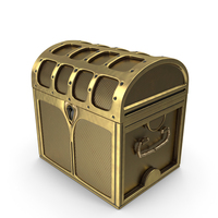 Small Golden Chest Locked PNG & PSD Images