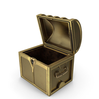 Small Golden Chest Open PNG & PSD Images