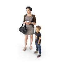 Woman and a Kid PNG & PSD Images