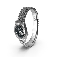 Rolex Datejust 36 Steel and White Gold Black Dial PNG & PSD Images