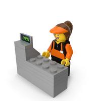 Lego Cashier PNG & PSD Images