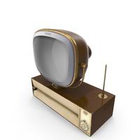 Vintage Antique 50s TV PNG & PSD Images
