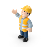 Worker Right Hand Up PNG & PSD Images