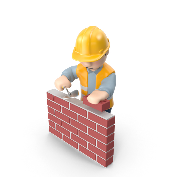 Worker with Bricks PNG & PSD Images
