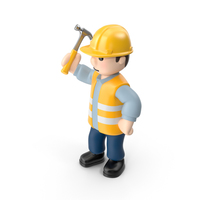 Worker with Hammer PNG & PSD Images