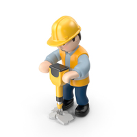 Worker with Jackhammer PNG & PSD Images