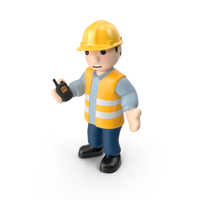 Worker with Radio PNG & PSD Images