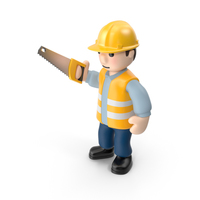 Worker with Saw PNG & PSD Images