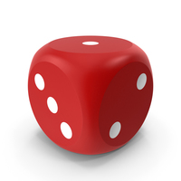 Red Dice Beveled PNG & PSD Images