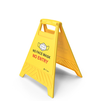 No Face Mask No Entry Floor Sign PNG & PSD Images