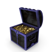Small Magical Chest with Coins PNG & PSD Images
