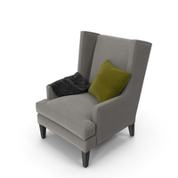 Luxe High Wing Back Chair PNG & PSD Images