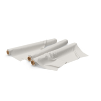 Three Fabric Rolls PNG & PSD Images