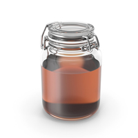 Glass Jar with Honey PNG & PSD Images