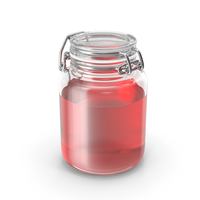 Glass Jar with Red Liquid PNG & PSD Images