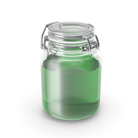Glass Jar with Green Liquid PNG & PSD Images