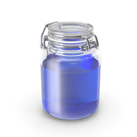 Glass Jar with Blue Liquid PNG & PSD Images