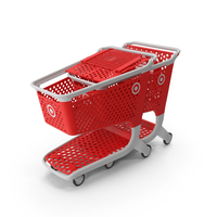 Plastic Shopping Carts Row of 2 PNG & PSD Images