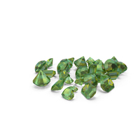 Small Emerald Diamonds Pile PNG & PSD Images