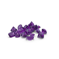 Small Amethyst Diamond Pile PNG & PSD Images